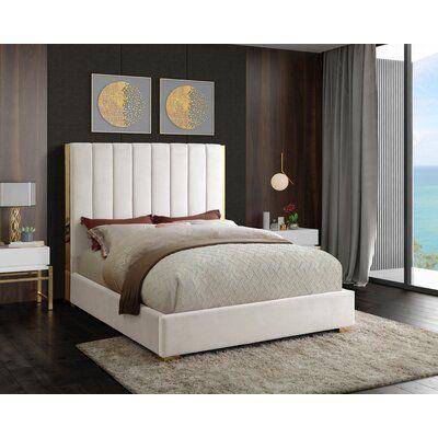 Aeliana Velvet Upholstered Platform Bed