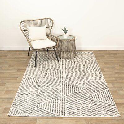 Colangelo Geometric Black Indoor / Outdoor Area Rug