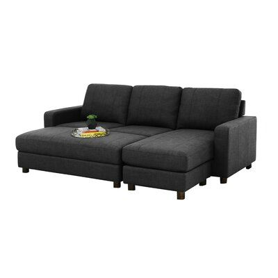 """Askerby 90"""" Reversible Modular Sofa & Chaise with Ottoman"""