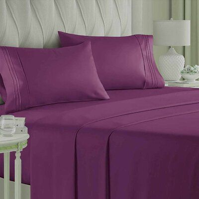 Bed Sheet Set Soft Microfiber 1800 Thread Count Bed Sheets