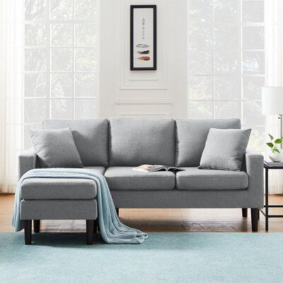77.16'' Wide Reversible Sofa & Chaise with Ottoman