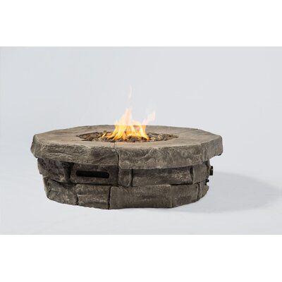 Tavon Concrete Propane/Natural Gas Fire Pit Table