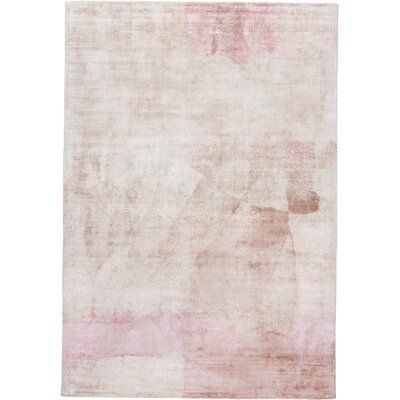 Norsworthy Hand-Knotted Cotton Pink Area Rug
