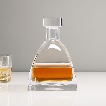 Glass Decanter, Pyramid Whiskey, Clear