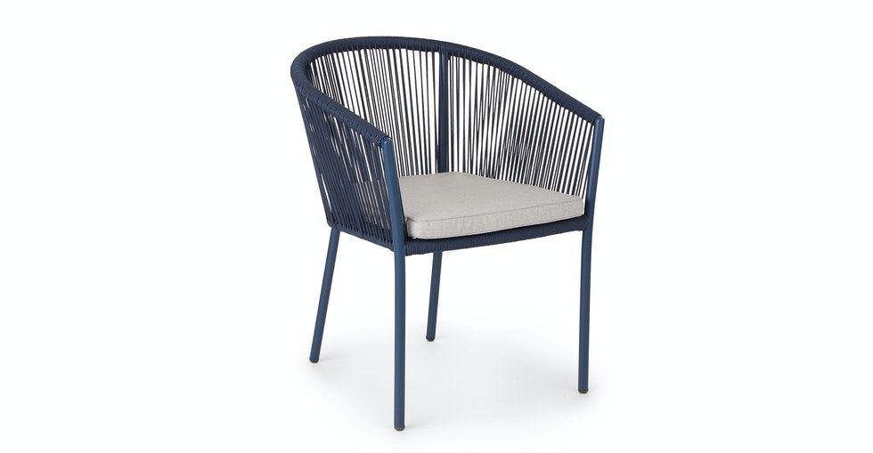 Corda Beach Sand Indigo Blue Dining Chair- Set of 2