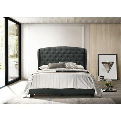 Rhode Tufted Upholstered Low Profile Standard Bed