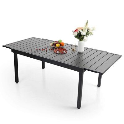 Dafinel Extendable Metal Dining Table
