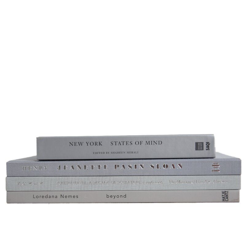 Booth & Williams 4 Piece  Marble Authentic Decorative Book Set