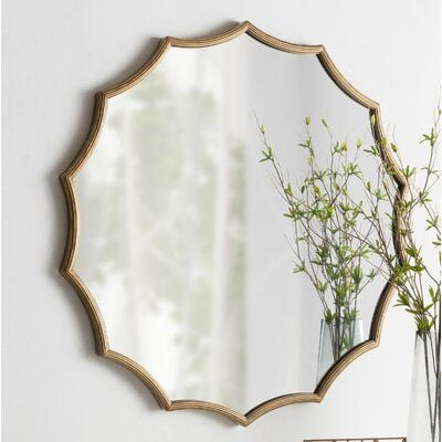 Postma Scalloped Modern & Contemporary Beveled Accent Mirror