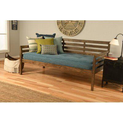 Schwenksville Twin Solid Wood Daybed with Mattress