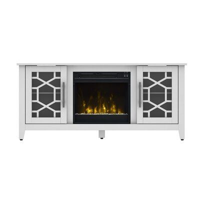 """Jennings TV Stand for TVs up to 60"""" with Fireplace Included"""