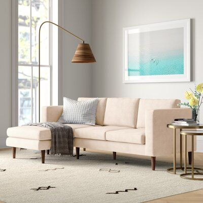 """Aaron 88.98"""" Wide Reversible Sofa & Chaise"""