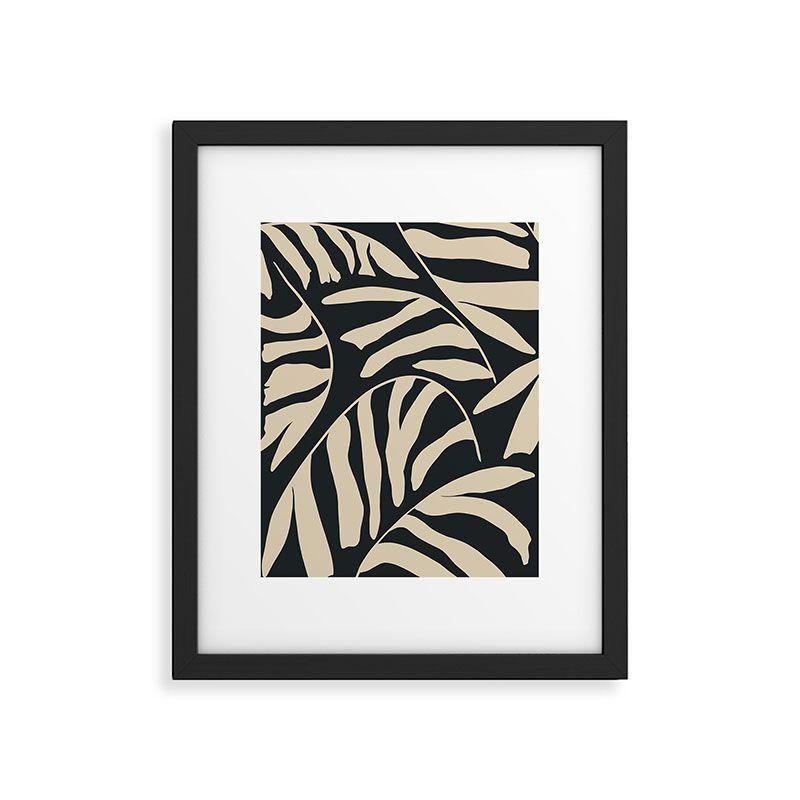 "Palm 3 by Jae Polgar, Modern Framed Art Print, Black, 24"" x 36"""