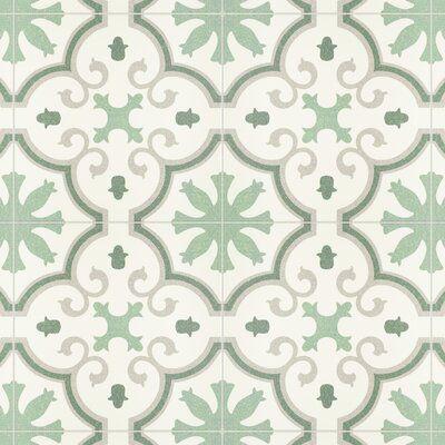 "Dulce 10"" x 10"" Porcelain Spanish Wall & Floor Tile"