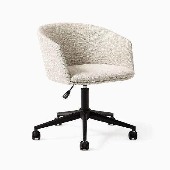 Decon Swivel Office Chair, Stone Twill, Black