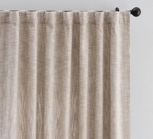 "Seaton Textured Drape 50 x 96"", Dark Flax"