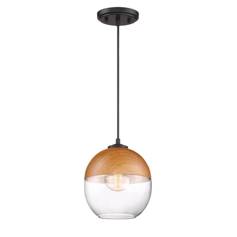 Designers Fountain Kawena 1-Light Robusta Wood Style Finish Hanging Pendant