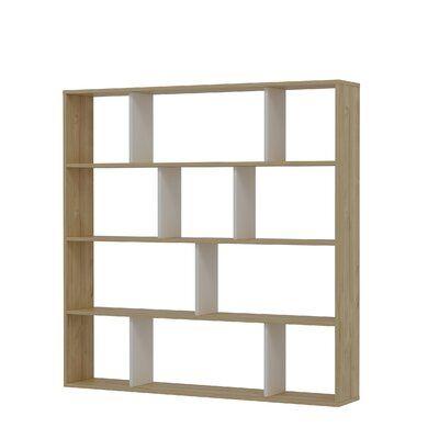 Amy- 57.1'' H x 57.1'' W Geometric Bookcase