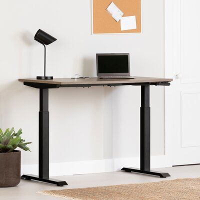 Arlen Height Adjustable Standing Desk with Built in Outlets