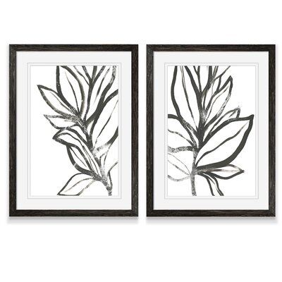 'Leaf Instinct I' by Vincent Van Gogh - 2 Piece Picture Frame Painting Print Set