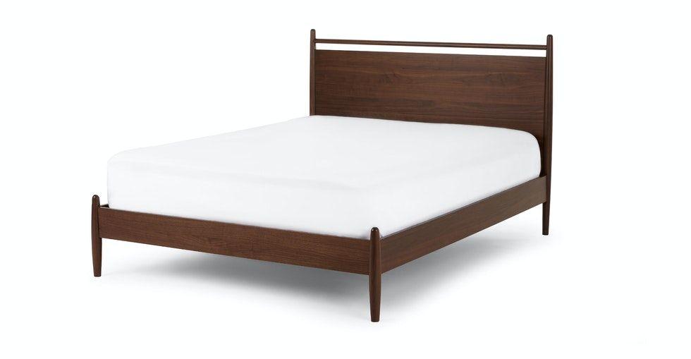 Lenia Panel Walnut King Bed