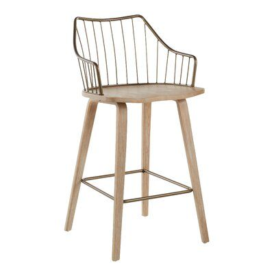 """Wong Solid Wood 25.75"""" Counter Stool"""