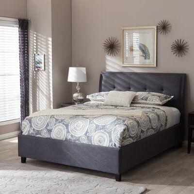Carnegie Queen Upholstered Storage Platform Bed