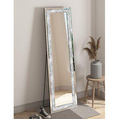 Kulkarni Beveled Frameless Magnifying Full Length Mirror