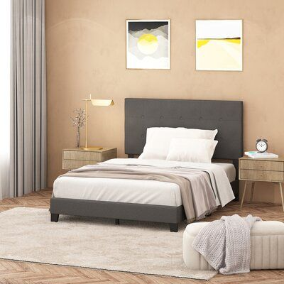 Kaniel Tufted Upholstered Low Profile Platform Bed