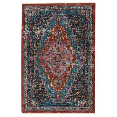 Zoeller Oriental Blue/Rust Area Rug