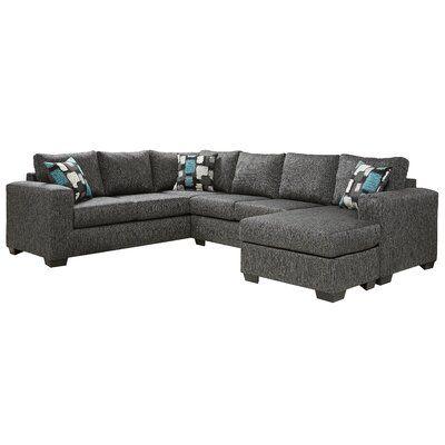 "Cathlino 97"" Wide Reversible Modular Sofa & Chaise with Ottoman"