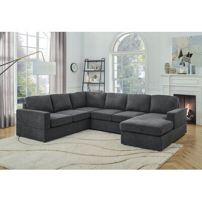 """Aasia 113"""" Wide Sofa & Chaise"""