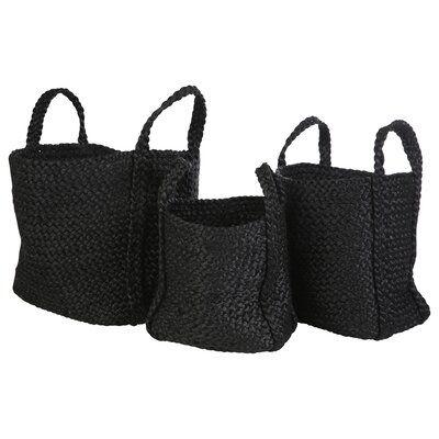 Square 3 Piece Jute Basket Set