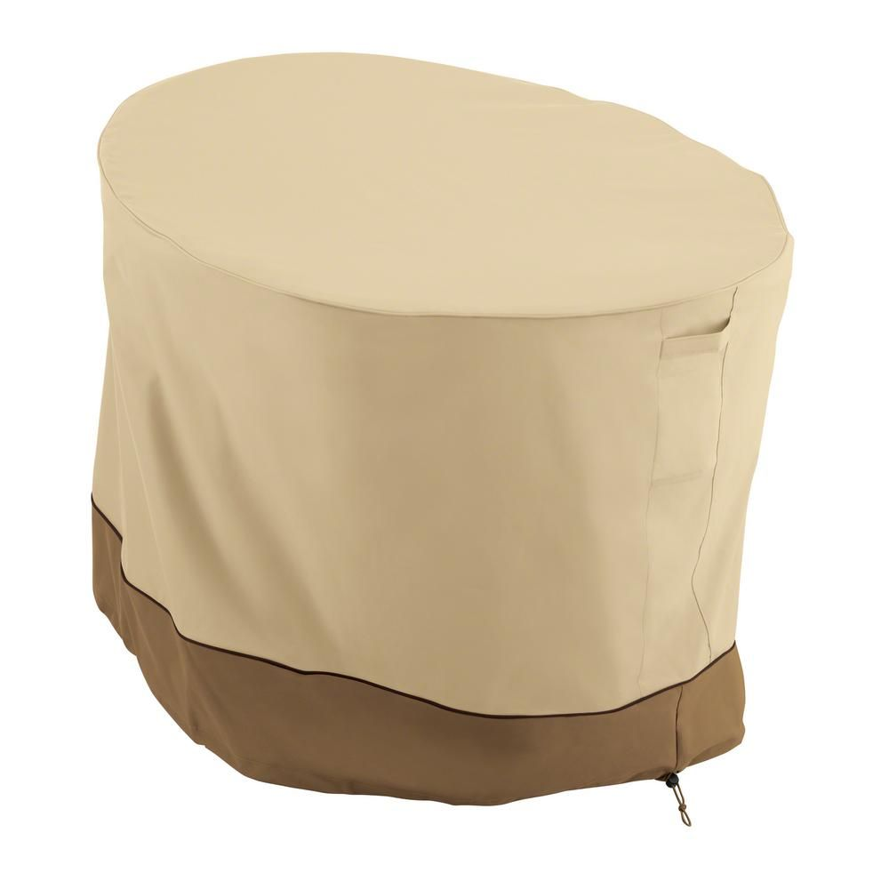 Classic Accessories Veranda Papasan Chair Cover Durable and Water Resistant Outdoor Furniture Cover, Pebble/Earth/Brown