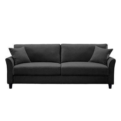 "Averick 85"" Wide Linen Flared Arm Sofa"
