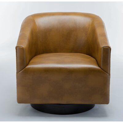 "Mcintyre Swivel 22.75"" W Barrel Chair"