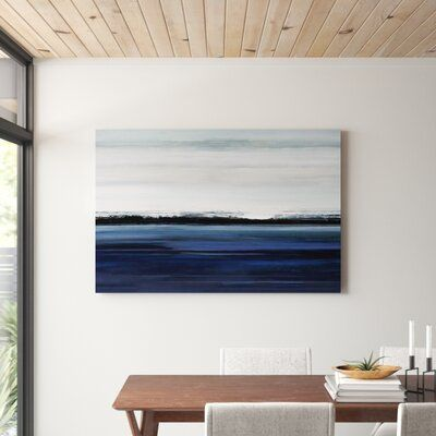 'At the Edge' Painting Print on Wrapped Canvas