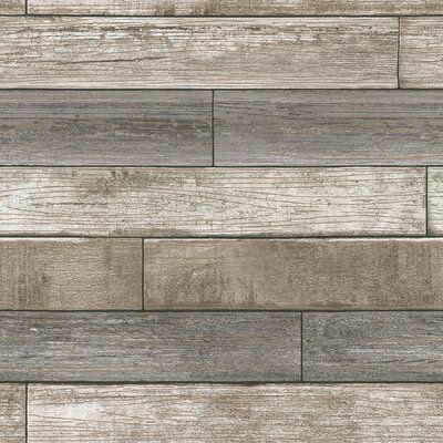 """Beshears 18' x 20.5"""" Reclaimed Wood Plank Wallpaper Roll"""
