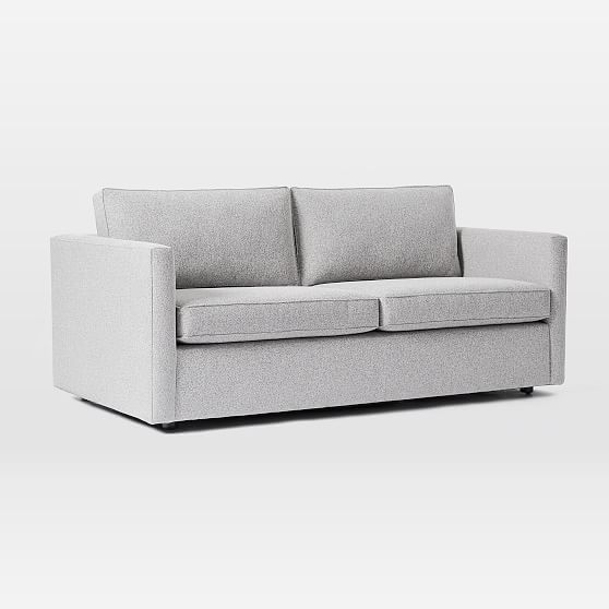 Harris Sleeper Sofa, Poly, Chenille Tweed, Irongate, Concealed Supports