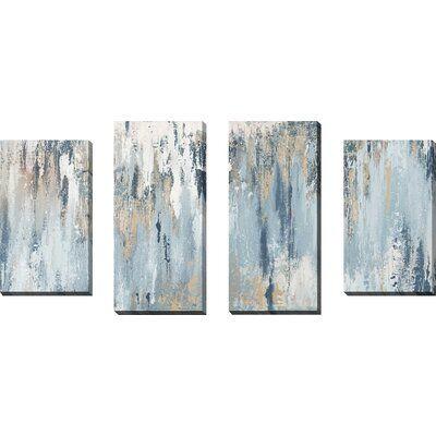 Blue Illusion - 4 Piece Wrapped Canvas Print