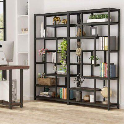 "Hessler 70.86"" H x 39.37"" W Metal Standard Bookcase"