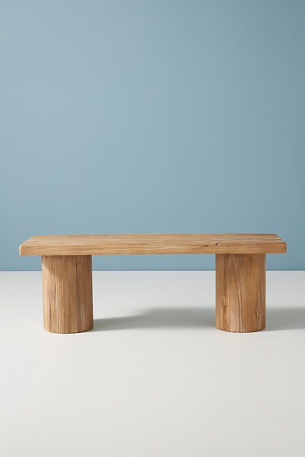 Margate Reclaimed Wood Bench By Anthropologie in Beige