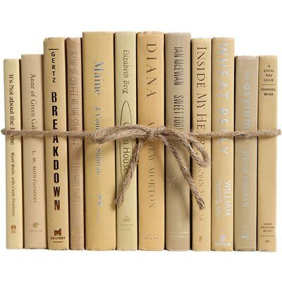 Authentic Decorative Books - By Color Modern Sandalwood ColorPak (1 Linear Foot, 10-12 Books)