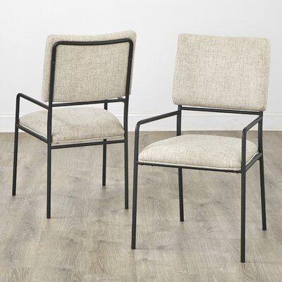 Auriyana Upholstered Armchair in Beige set of 2