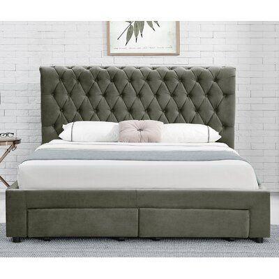 Tapscott Tufted Upholstered Low Profile Storage Platform Bed