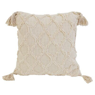Sipan Square Cotton Pillow Cover and Insert