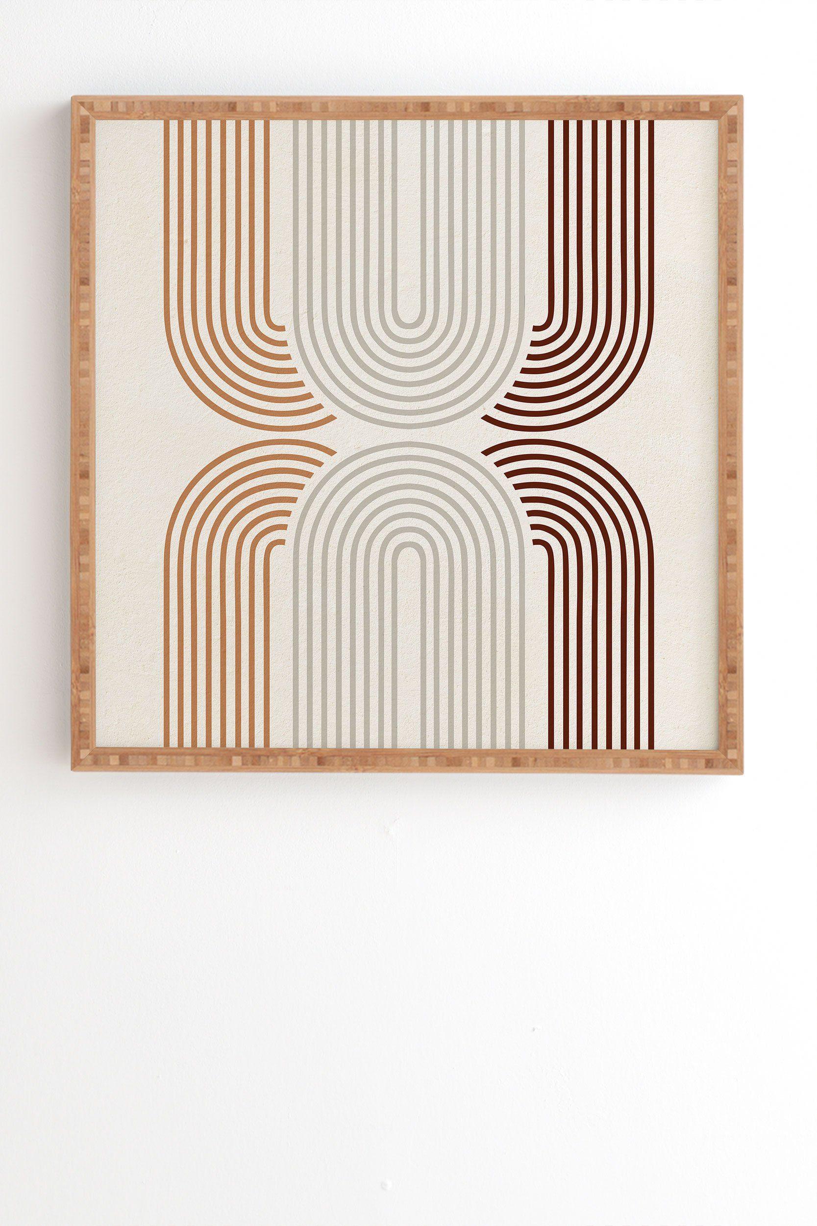 "Iveta Abolina Mid Century Line Art VII Framed Wall Art - 20"" x 20"""