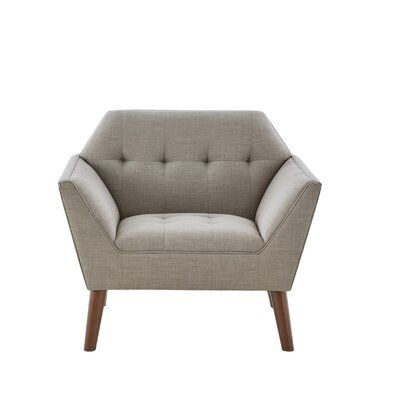 """Hoboken 38"""" Wide Tufted Polyester Armchair"""
