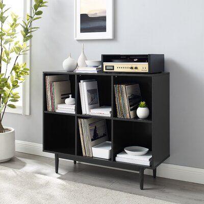 """Sinclaire 35.88"""" H x 42.25"""" W Cube Bookcase"""