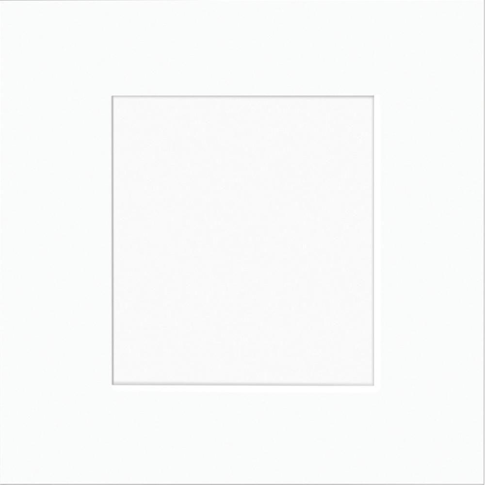 13x13 in. Cabinet Door Sample in Newport Pacific White